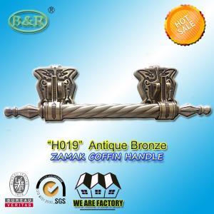 China metal coffin bar H019  amak Metal Coffin Handles With Steel Bar 30 x 9.5 cm antique bronze color wholesale