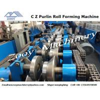 China Hydraulic C Z Purlin Metal Forming Equipment 380V 50HZ 5 Phrase wholesale