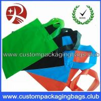 China Soft Flex loop Die Cut Handle Plastic Bags / custom printed carrier bags OEM wholesale