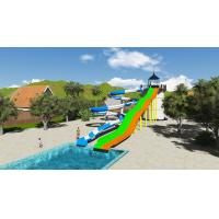 Quality SGS Water Park Design Fiberglass Sports Combination Pool Water Slide for sale