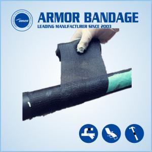 China High Rigidness Fast Hardening Bandage Emergency Fiberglass Pipe Repair Bandage Cast Armored Tape wholesale