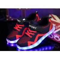 China Soft Rubber Outsole Childrens LED Shoes Sport Kids Led Light Shoes wholesale