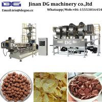China Continuous automatic Breakfast cereal food extruder production line factory price/Extruded corn flakes machinery online wholesale