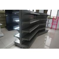 China Supermarket Display Fixtures Commercial Shelving Units With 3 Hook Bracket wholesale