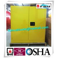 China 30 GAL Fireproof Hazardous Storage Cabinets For Flammable And Combustible Liquids wholesale