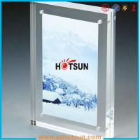 China High quality clear square double sided acrylic photo frame with magnets wholesale