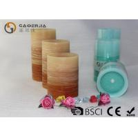 China Flat Top Flameless Led Candles With Remote Control Gradient Ramp Color wholesale
