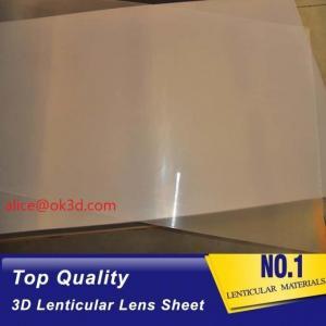 China PET thinnest offset lens  0.18mm 200 Lpi, 51x71cm  3D Film Lenticular Lens Sheet for UV offset printer annd injekt prin wholesale