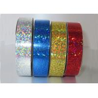 """China Customised Holographic ribbon 1/2""""  x 20y , red white blue Ribbon Roll 90U - 200U Thickness wholesale"""