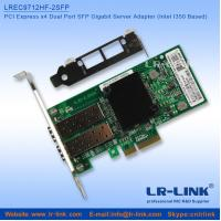 China PCI Express PCIe x4 Dual SFP Port Gigabit Server Adapter (Intel I350 Based) on sale