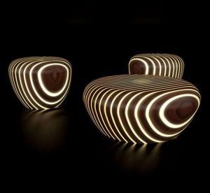 China Outdoor Garden Furniture Sculptures Lounge Chair Resin Garden Statues wholesale