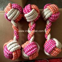 China High quality dumbbell shape cotton rope pet dog chew toy, doggie toy rope wholesale