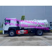 China HOWO 4*2 12,000 Liters Heavy Sewage Suction Truck , White Color Vacuum Suction Truck wholesale