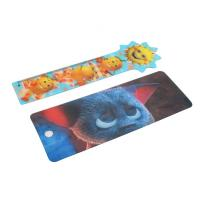 China OK3D cheapest high quality  Plastic Lenticular Hang Tag  with string made by UV offset printer wholesale