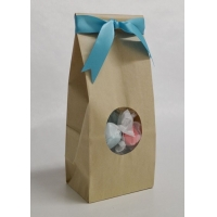 China Food bag with window and beautiful printing wholesale
