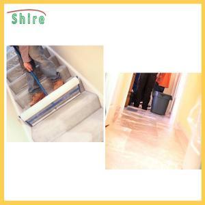 China Protective Carpet Shield Self Adhesive Film Mask , Carpet Masking Film wholesale