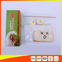 Custom Resealable Plastic Sandwich Bags With Write Panel , Zip Lock Pouch Bags