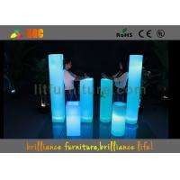 China Wedding Decoration Carbon Fiber Furniture Corporate Events LED Pillar Unbreakable wholesale