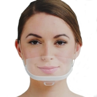 China Food Processing 14*5.5CM Transparent Plastic Mouth Mask wholesale