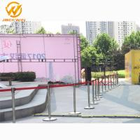 China Airport/Bank/Events Crowd Control Stainless Steel Retractable Belt Queue Barrier wholesale