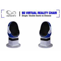 China Shopping Mall Electric System Amusement 9D VR Egg Cinema wholesale