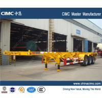 China container chassis , tri-axle 40 tons 20ft 40ft 45ft skeleton container trailer chassis wholesale