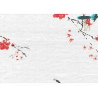 China Printing Flowers Textured Wall Decor Bamboo Fiber Products 340*60 CM wholesale