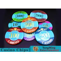 Mini Engraved Customizable Casino Poker Chips For Entertainment Venues Games for sale