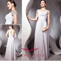 Buy cheap gorgeous plus size mother of bride dresses, pleated grey mother of bride dresses from wholesalers