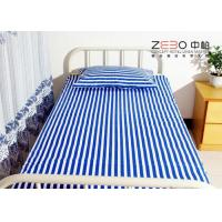 China 3cm Jacquard Fabric Hospital Bed Sheet With Quality Test 40s Yarn Count wholesale