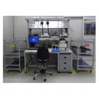 China Electronic Workstation GPS Repair Double Drawer ESD Workbench wholesale