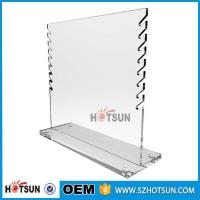 Quality Custom clear countertop ring display/ring rack /acrylic jewelry display stand for sale