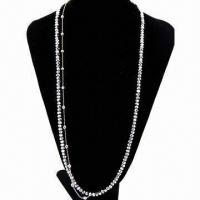 China Beaded Crystal Necklace with Alloy Chain on sale