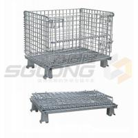 China Fully Collapsible Wire Container Storage Cages Industrial Metal Baskets wholesale