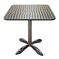 China Light Weight Sturdy Rustproof Square Aluminum Outdoor Table For Bar , Home wholesale