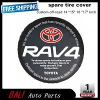 China Free shipping Factory direct sale PVC car spare wheel cover spare tire cover 16 inch for SUV TOYOTA RAV4 RF-TA-43 wholesale