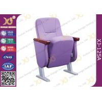 Buy cheap Comfortable & Soft Auditorium Theater Seating With 60mm Armrest / Fully Coth Cover from wholesalers