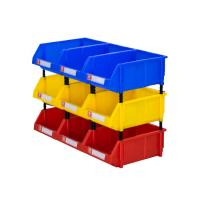 China Warehouse spare parts storage solution plastic stackable bins wholesale