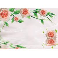 Quality Green Healthy Livable Bamboo Fiber Board / Flower Rose Fiber Wall Panels Easy Install for sale
