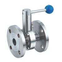 China Sanitary Stainless Steel 304,316L Material Flanged Butterfly Valve with Pull Handle on sale