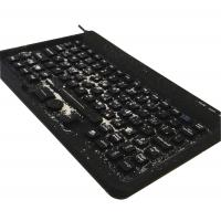 China Military use black silicone customs keyboard with integrated 3 mouse buttons without gap wholesale