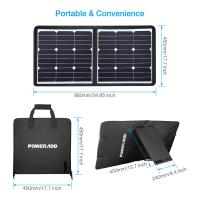 China 50 Watt 18 Volt Foldable Solar Panel Charger High Safely FCC RoHS Certified wholesale