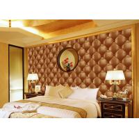 China Concise Diamond Printing Inmitation Leather Wall Coverings Moisture Resistant wholesale