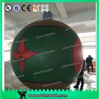 China Club Event Hanging 1.5m Lighting Decoration Inflatable Ball With Star Printing wholesale