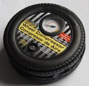 Quality Tire Shape Portable Car Air Compressor Tyre Inflator Plastic DC12V for sale