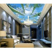 China Hotel Room Integrated Ceiling System Bamboo Fiber Sky And Tree Pattern wholesale
