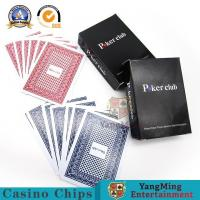 China Red Blue Color Carton 100% Plastic Playing Cards Black CMYK Copper Plate on sale