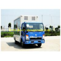 China CCC / BV Refrigerated Box Truck 95 hp with Euro IV emission for meat and fish wholesale