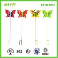 China Colorful Butterfly Stake Decoration Garden Art Decor on sale