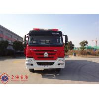 China 27T Huge Capacity Foam Fire Truck Six Seats With 100W Alarm Control System wholesale